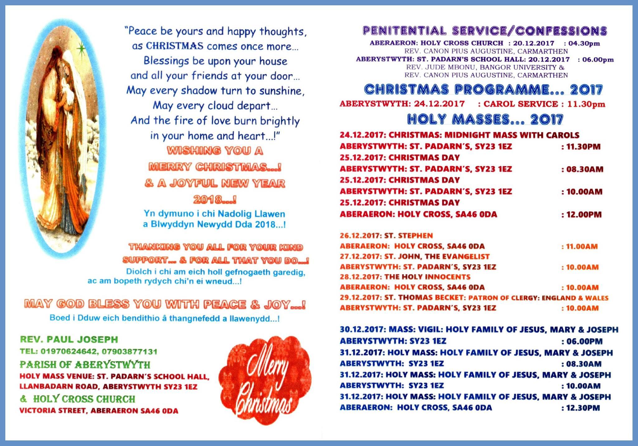 Christmas Programme 2017